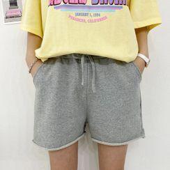 Seoul Fashion - Drawstring-Waist Shorts