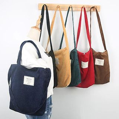 TangTangBags - Appliqued Corduroy Tote
