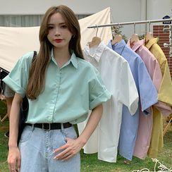 Closette - Short-Sleeve Plain Shirt