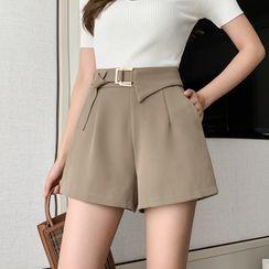 Yumerakka - High-Waist Wide-Leg Shorts