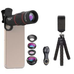 APEXEL - 4 in 1 Mobile Clip On Lens with Mini Tripod