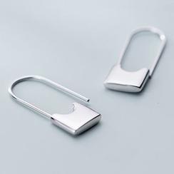 A'ROCH - 925 Sterling Silver Padlock Dangle Earrings