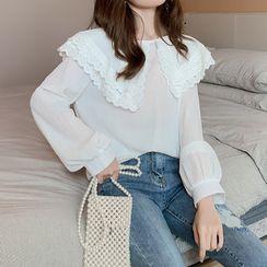 Vee Miny - 蕾丝边衬衫