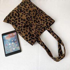 Basaran(バサラン) - Corduroy Leopard Print  Tote Bag