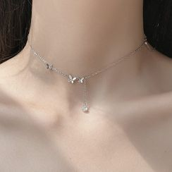 True Glam - Alloy Butterfly Necklace