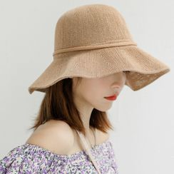 Jiggon - 草編純色太陽帽