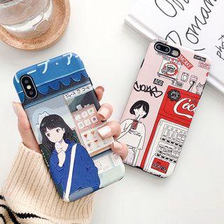 Aion - 卡通女孩印花手机套 - 苹果 iPhone XS Max / XS / XR / X / 8 / 8 Plus / 7 / 7 Plus / 6s / 6s Plus