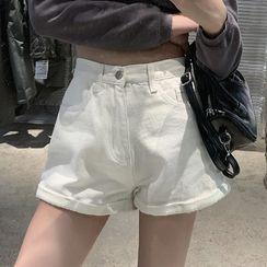 Korenina - Washed Denim Shorts