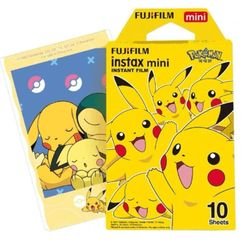 Fujifilm - Fujifilm Instax Mini Film (New Pokemon) (10 Sheets per Pack)