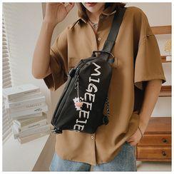 Fema - Lettering Canvas Sling Bag