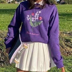 BrickBlack - Floral Embroidered Sweatshirt