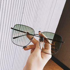 MOL Girl - Square Metal Glasses