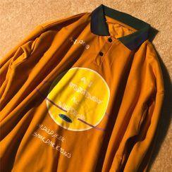 Banash - Printed Long-Sleeve Polo Shirt