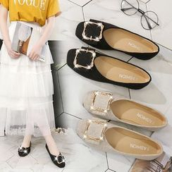 Arpeggi - Square Buckled Flat Shoes