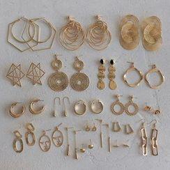 YUGGI - 合金耳環 (多款設計)