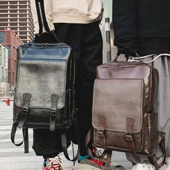 MUSA - Faux Leather Square Backpack