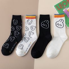 Wolfhara - Rabbit Print Socks