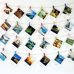 Foresty - Set: Postcards + Jute Twine + Wooden Pegs + Invisible Wall Studs
