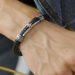 Tenri - Stainless Steel Star Leather Bracelet