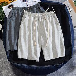 Rampo - Plain Drawstring Shorts