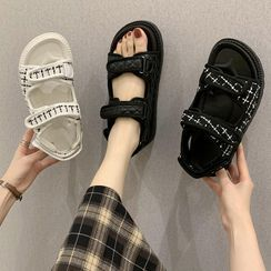 JIP - Platform Quilted Sandals