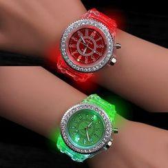 MODIYA - LED Jelly Bracelet Watch