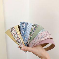 Bmuse - Set of 3: Fabric Headband (assorted designs)
