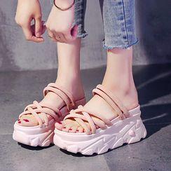 Sleeko - 厚底多帶涼鞋