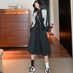 Alfie - Color-Block Long-Sleeve Dress