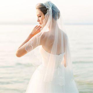 Neostar - Lace-Trim Wedding Veil (Various Designs)