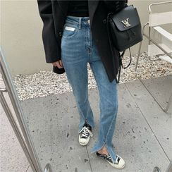 Allizzwell - High-Waist Slim-Fit Jeans