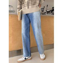 JOGUNSHOP - Washed Wide-Leg Jeans