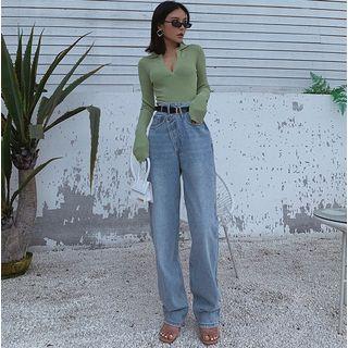 Colada - Jean straight taille asymétrique