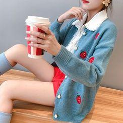 Luglio - 刺绣草莓开衫