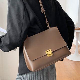 NewTown - Faux Leather Flap Crossbody Bag