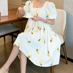 Ikanox - Maternity Short-Sleeve A-Line Dress