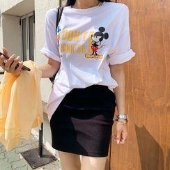 DEEPNY - Mickey & Donald Printed T-Shirt