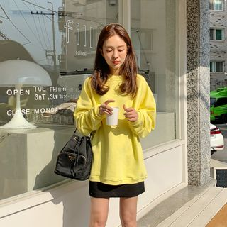 FROMBEGINNING - Drop-Shoulder Cotton Sweatshirt