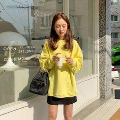 FROMBEGINNING - Drop-Shoulder Cotton Sweatshirt