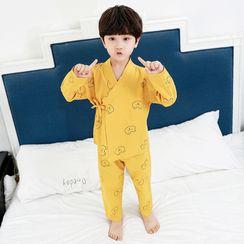 PAM - 小童睡衣套装: 长袖熊印花衬衫 + 裤