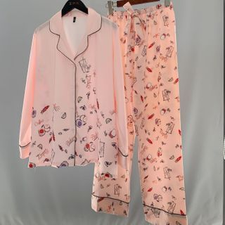 Almilo - Pajama Set: Printed Shirt + Lounge Pants