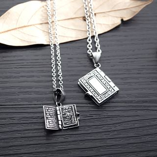 Tenri - Stainless Steel Bible Pendant Necklace