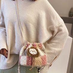 Faneur - Lion Applique Fleece Bucket Bag