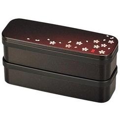 Hakoya - Hakoya Slim 2 Layers Lunch Box Akane Sakura Aka