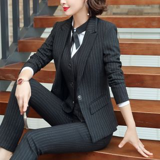 Princess Min(プリンセスミン) - Striped Blazer / Dress Pants / Mini Skirt / Set