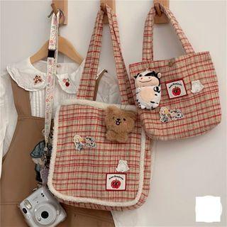 Anchara - Plaid Tote Bag / Handbag