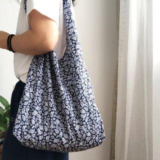 Sacculi - Floral Print Cotton Tote Bag