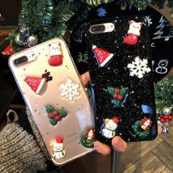 NISI - Christmas Transparent Mobile Case - iPhone XS Max / XS / XR / X / 8 / 8 Plus / 7 / 7 Plus / 6s / 6s Plus