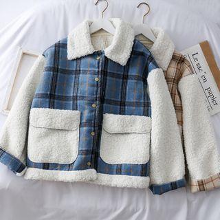 Lemongrass - Checker Fleece Coat