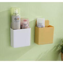 Kinboshi - Set of 2: Plain Plastic Adhesive Wall Organizer